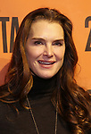 Brooke Shields backstage at  the Second Stage Theater Broadway lights up the Hayes Theatre at the Hayes Theartre on February 5, 2018 in New York City.