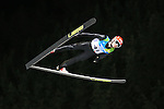 Sami Niemi jumps during the Large Hill Ski Jumping event as part of the Winter Universiade Trentino 2013 on 20/12/2013 in Predazzo, Italy.<br /> <br /> &copy; Pierre Teyssot - www.pierreteyssot.com