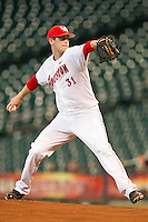 Starting pitcher Jared Ray #31 of the Houston Cougars in action against the Tennessee Volunteers at Minute Maid Park on March 2, 2012 in Houston, Texas.  The Cougars defeated the Volunteers 7-4.  Brian Westerholt / Four Seam Images