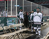 Connor Dahlman (Babson - 4), Ryan McDougall (Babson - 2), Joe DePietto (Babson - 27) - The UMass Boston Beacons defeated the Babson College Beavers 5-1 on Thursday, January 12, 2017, at Fenway Park in Boston, Massachusetts.