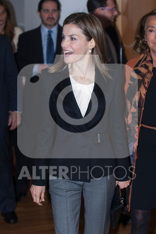 Queen Letizia of Spain attends the `Girona Pincess Award at Scientific Research´ in Madrid, Spain. April 09, 2015. (ALTERPHOTOS/Victor Blanco)