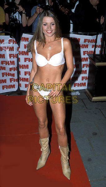 High Street Honey.FHM 100 Sexiest Party 2003 at Aldwych Tube Station.www.capitalpictures.com.sales@capitalpictures.com.© Capital Pictures.bond girl bikini, barely there.