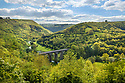 Monsal Dale viaduct, Peak District National Park, Derbyshire, UK. June.