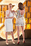 Spanish models (L-R) Judit Masco and Nieves Alvarez pose during Licor 43 presentation in Madrid, Spain. January 29, 2015. (ALTERPHOTOS/Victor Blanco)