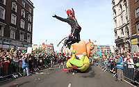 17/03/2009.Participants during the 2009 St. Patrick's Festival Parade in Dublin..Photo: Gareth Chaney Collins
