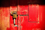 A red door and lock