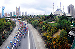 The peloton in action during Stage 6 of the 54th Presidential Tour of Turkey 2018, running 132.7km from Bursa to Istanbul, Turkey. 14th October 2018.<br /> Picture: Brian Hodes/VeloImages | Cyclefile<br /> <br /> <br /> All photos usage must carry mandatory copyright credit (&copy; Cyclefile | Brian Hodes/VeloImages)