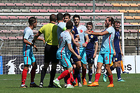 Tempers flare in the first half after an incident involving Scotland's Chris Hamilton during Turkey Under-21 vs Scotland Under-21, Tournoi Maurice Revello Football at Stade Francis Turcan on 9th June 2018