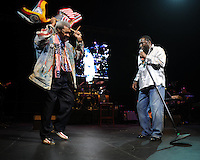 HOLLYWOOD FL - JUNE 22 : Don King and Eddie Levert perform during Don King's 80th birthday celebration at Hard Rock live held at the Seminole Hard Rock Hotel &amp; Casino on June 22, 2012 in Hollywood, Florida. &copy;&nbsp;mpi04/MediaPunch Inc NORTEPHOTO.COM<br />