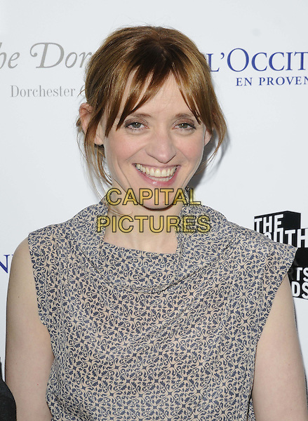 Anne-Marie Duff.attended the South Bank Sky Arts Awards 2013, Dorchester Hotel, Park Lane,  London, England..March 12th, 2013.headshot portrait grey gray pattern .CAP/CAN.©Can Nguyen/Capital Pictures.
