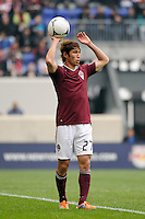 Kosuke Kimura (27) of the Colorado Rapids. The New York Red Bulls defeated the Colorado Rapids 4-1 during a Major League Soccer (MLS) match at Red Bull Arena in Harrison, NJ, on March 25, 2012.