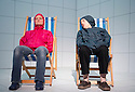Love and Information by Caryl Churchill, directed by James MasDonald. Depression with Sarah Woodward, Linda Bassett.  Opens at The Royal Court Theatre Downstairs  on 14/9/12.CREDIT Geraint Lewis