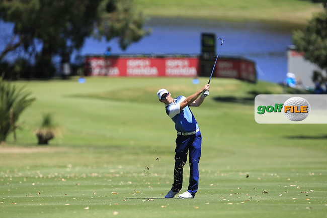 Brad Shilton (NZL) on the 14th fairway during Round 2 of the ISPS Handa World Super 6 Perth on Friday 17th February 2017.<br /> Picture:  Thos Caffrey / Golffile<br /> <br /> All photo usage must carry mandatory copyright credit     (&copy; Golffile | Thos Caffrey)