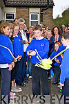 Ref Sinead..The responsibility for cutting the ribbon to open the new Basketball Court in Caherdaniel NS on Friday last fell on Joseph Fenton being the eldest pupil in the school.