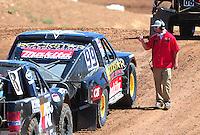 Apr 16, 2011; Surprise, AZ USA; LOORRS official and driver Kyle Leduc (99) during round 3 at Speedworld Off Road Park. Mandatory Credit: Mark J. Rebilas-.
