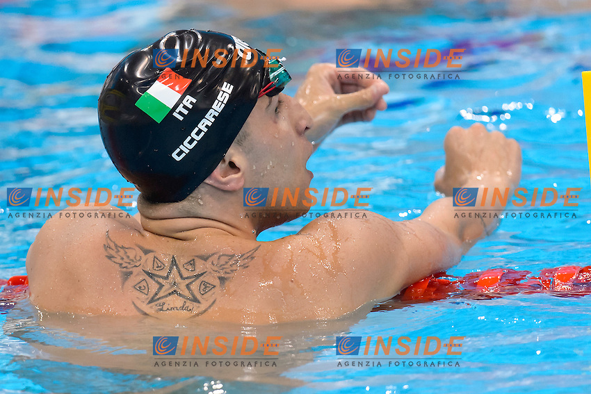 Christian CICCARESE ITA <br /> 100m Backstroke prelyminaries<br /> London, Queen Elizabeth II Olympic Park Pool <br /> LEN 2016 European Aquatics Elite Championships <br /> Diving  <br /> Day 08 16-05-2016<br /> Photo Andrea Staccioli/Deepbluemedia/Insidefoto