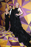 BEVERLY HILLS, CA - JANUARY 7: Emilia Clarke, Nikolaj Coster-Waldau, Gwendoline Christie at the HBO Golden Globes After Party at the Beverly Hilton in Beverly Hills, California on January 7, 2018. <br /> CAP/MPI/FS<br /> &copy;FS/MPI/Capital Pictures