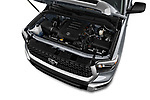 Car stock 2020 Toyota Tundra SR5 5.7L Crew Max 4WD Short Bed 4 Door Pick Up engine high angle detail view