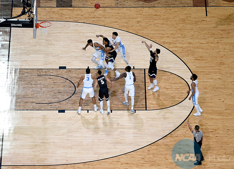 GLENDALE, AZ - APRIL 03: Josh Perkins #13 of the Gonzaga Bulldogs shoots a free throw during the 2017 NCAA Men's Final Four National Championship game against the North Carolina Tar Heels  at University of Phoenix Stadium on April 3, 2017 in Glendale, Arizona.  (Photo by Chris Steppig/NCAA Photos via Getty Images)
