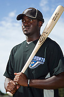 Toronto Blue Jays outfielder Dwight Smith Jr poses for a photo after an Instructional League game against the Philadelphia Phillies at Englebert Complex on October 12, 2011 in Dunedin, Florida.  (Mike Janes/Four Seam Images)