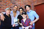 """All My Children Keith Hamilton Cobb stars as """"Oberon"""" and """"Duke Theseus"""" and poses with castmates Robert Rutland """"Egeus"""" & """"Philostrate"""", George Abud """"Puck"""", Ian Holcomb """"Demetrius"""" and front Rebecca Rand """"First Fairy"""" as they star in William Shakespeare's A Midsummer Night's Dream on May 26, 2013 - one of many performances - at Geva Theatre Center, Rochester, New York.  (Photo by Sue Coflin/Max Photos)"""