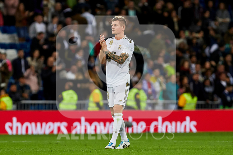 Toni Kroos of Real Madrid after La Liga match between Real Madrid and Real Betis Balompie at Santiago Bernabeu Stadium in Madrid, Spain. November 02, 2019. (ALTERPHOTOS/A. Perez Meca)