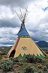 Teepee in Santa Fe, New Mexico.