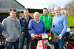 David kissane Lixnaw, Peter Russell Kilflynn, Gerard Griffin Tralee, Patrick Daughton Lixnaw and Noel Brosnan Killarney at the start of the annual Honda 50 Easter run from the Old Killarney Inn on Sunday
