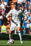 Real Madrid's Cristiano Ronaldo  during the match of La Liga between Real Madrid and SD Eibar at Santiago Bernabeu Stadium in Madrid. October 02, 2016. (ALTERPHOTOS/Rodrigo Jimenez)