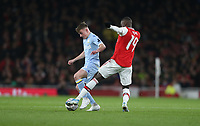 Leeds United's Robbie Gotts and Arsenal's Nicolas Pepe<br /> <br /> Photographer Rob Newell/CameraSport<br /> <br /> Emirates FA Cup Third Round - Arsenal v Leeds United - Monday 6th January 2020 - The Emirates Stadium - London<br />  <br /> World Copyright © 2020 CameraSport. All rights reserved. 43 Linden Ave. Countesthorpe. Leicester. England. LE8 5PG - Tel: +44 (0) 116 277 4147 - admin@camerasport.com - www.camerasport.com