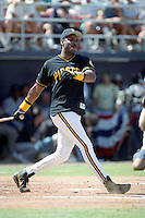 Pittsburgh Pirates outfielder Barry Bonds during the Major League Baseball All-Star Game Home Run Derby at Jack Murphy Stadium  in San Diego, California.  (MJA/Four Seam Images)