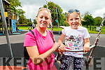 Sadhbh and Caroline Walshe from Tralee enjoying the Tralee Town Park playground which reopened on Monday.