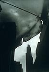 San Francisco building through umbrella cloth