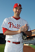 Feb 20, 2009; Clearwater, FL, USA; The Philadelphia Phillies pitcher J.A. Happ (43) during photoday at Bright House Field. Mandatory Credit: Tomasso De Rosa/ Four Seam Images