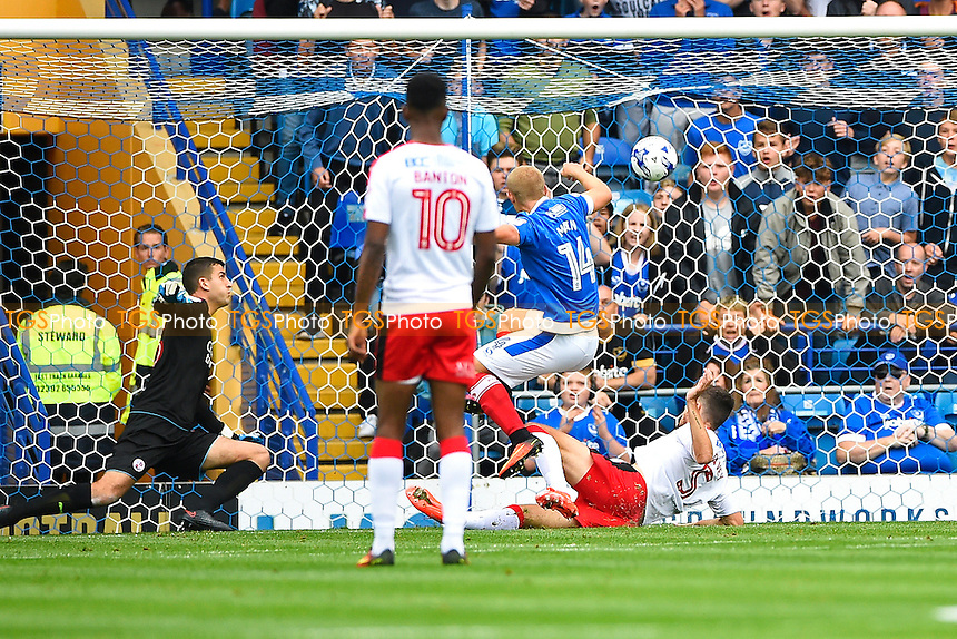Curtis Main of Portsmouth (14 scores the first goal) during Portsmouth vs Crawley Town, Sky Bet EFL League 2 Football at Fratton Park on 3rd September 2016