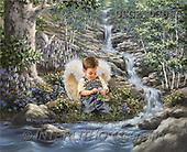 Dona Gelsinger, CHILDREN, paintings(USGE0306,#K#) Kinder, niños, illustrations, pinturas angels, ,everyday