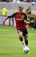 Yura Movsisyan in the Columbus Crew vs Real Salt Lake 1-4 RSL win at Rio Tinto Stadium in Sandy, Utah on April 2, 2009.