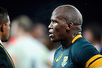 Bongi Mbonambi of South Africa looks on after the match. Old Mutual Wealth Series International match between England and South Africa on November 12, 2016 at Twickenham Stadium in London, England. Photo by: Patrick Khachfe / Onside Images