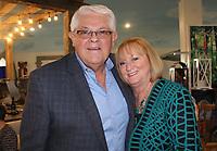 NWA Democrat-Gazette/CARIN SCHOPPMEYER Johnny Bakker and Susan Chase enjoy Top Chef NWA.
