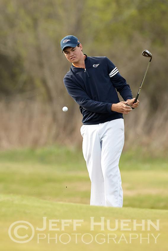 SAN ANTONIO, TX - MARCH 25, 2014: The UTSA Men's Golf Team hosts the Lone Star Invitational Golf Tournament at the Briggs Ranch Golf Club. (Photo by Jeff Huehn)