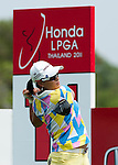 CHON BURI, THAILAND - FEBRUARY 17:  Se Ri Pak of South Korea tees off on the 11th hole during day one of the LPGA Thailand at Siam Country Club on February 17, 2011 in Chon Buri, Thailand. Photo by Victor Fraile / The Power of Sport Images