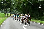 The peloton with Team Sky on the front during Stage 12 of the 104th edition of the Tour de France 2017, running 214.5km from Pau to Peyragudes, France. 13th July 2017.<br /> Picture: ASO/Alex Broadway | Cyclefile<br /> <br /> <br /> All photos usage must carry mandatory copyright credit (&copy; Cyclefile | ASO/Alex Broadway)