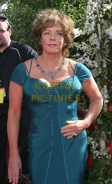 STOCKARD CHANNING.56th Annual Prime Time Emmy Awards held at the Shrine Auditorium. .September 19th, 2004.half length, blue, aqua dress, turquoise, diamond necklace,.www.capitalpictures.com.sales@capitalpictures.com.©Don Shaffer/AdMedia/Capital Pictures.