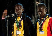Scout oath. Scouts from Senegal. Photo: Patrick Tollgren Lazarov / Scouterna
