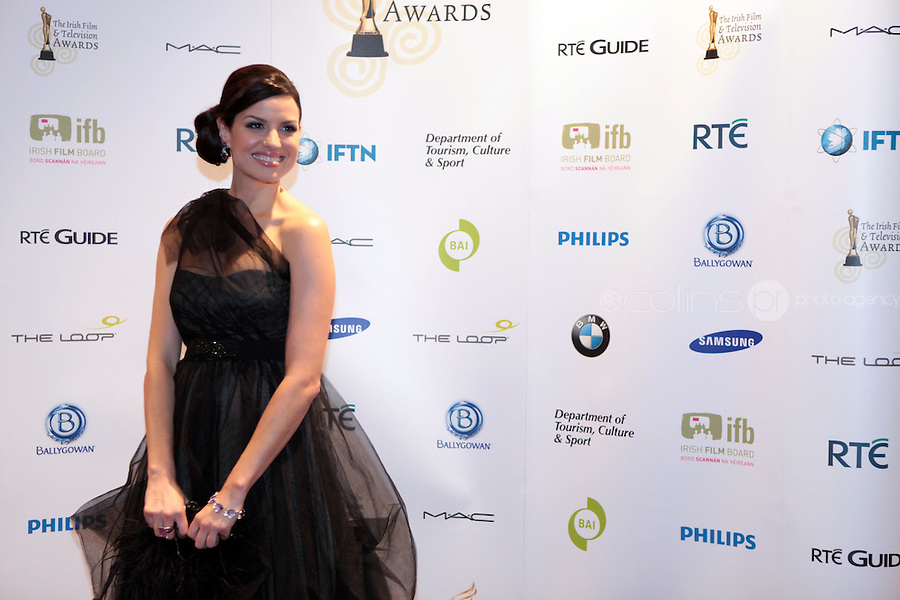 12/2/11 Caroline Morohan at the 8th Irish Film and Television Awards at the Convention centre in Dublin. Picture:Arthur Carron/Collins