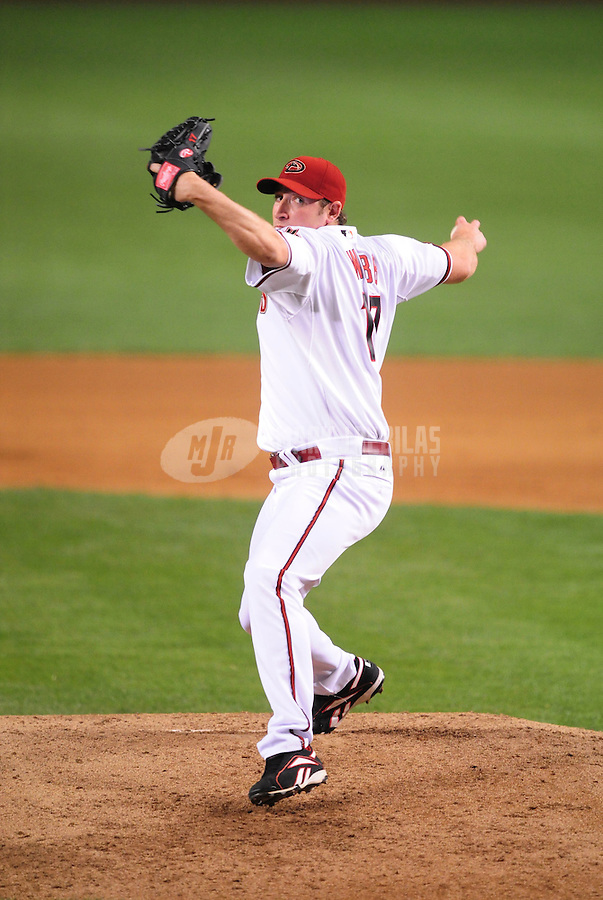 May. 15, 2008; Phoenix, AZ, USA; Arizona Diamondbacks pitcher Brandon Webb against the Colorado Rockies at Chase Field. Mandatory Credit: Mark J. Rebilas-