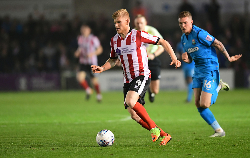 Lincoln City's Elliott Whitehouse<br /> <br /> Photographer Andrew Vaughan/CameraSport<br /> <br /> The EFL Sky Bet League Two - Tuesday 26th September 2017 - Lincoln City v Barnet - Sincil Bank - Lincoln<br /> <br /> World Copyright &copy; 2017 CameraSport. All rights reserved. 43 Linden Ave. Countesthorpe. Leicester. England. LE8 5PG - Tel: +44 (0) 116 277 4147 - admin@camerasport.com - www.camerasport.com