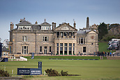 2nd October 2017, The Old Course, St Andrews, Scotland; Alfred Dunhill Links Championship golf practice round; The first fairway and R&A club house, Old Course, St Andrews