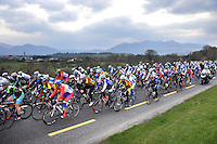 29-3-2013: The riders make their way out of Killarney and into the hills of Kilcummin on the opening stage of Ras Mumhan on Friday. The four day event concludes in Killorglin on Monday..Picture by Don MacMonagle