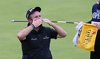 Shane Lowry (IRL) shows his appreciation to the crowds during the Final Round of the 148th Open Championship, Royal Portrush Golf Club, Portrush, Antrim, Northern Ireland. 21/07/2019. Picture David Lloyd / Golffile.ie<br /> <br /> All photo usage must carry mandatory copyright credit (© Golffile | David Lloyd)